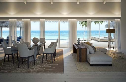 Wohnen in der Präsidenten Water Villa, Baglioni Resort Maldives