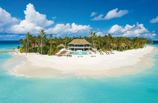 Luftaufnahme Main Pool, Baglioni Resort Maldives