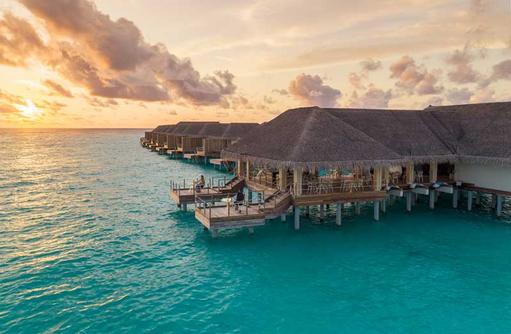 Umami Sonnenuntergang, Baglioni Resort Maldives