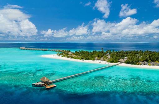 Luftaufnahme, Baglioni Resort Maldives