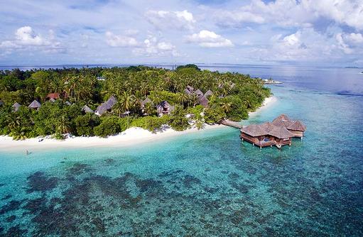Water Villas, Vogelperspektive, Bandos Maldives