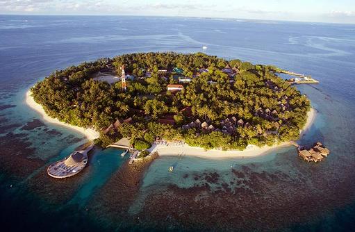 Insel von oben, Bandos Maldives