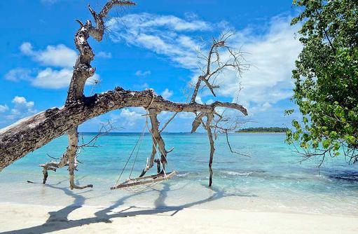 Schaukel, Strand, Fotomotiv, Bandos Maldives