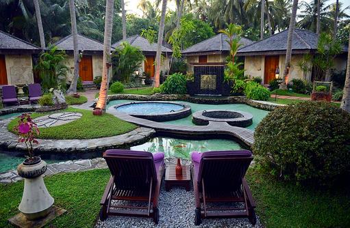 Orchid Spa, Garten, Bandos Maldives