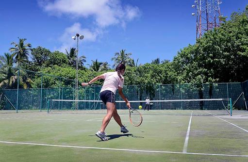 Tennis, Tennisplatz, Bandos Maldives