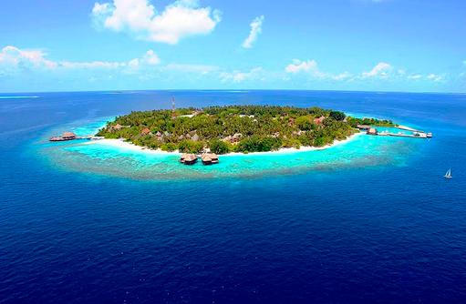 Vogelperspektive, Bandos Maldives