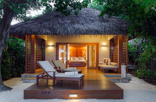Baros Villa, Garten, Terrasse, Baros Maldives