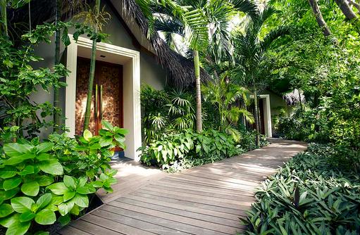 Spa, Garten, Baros Maldives