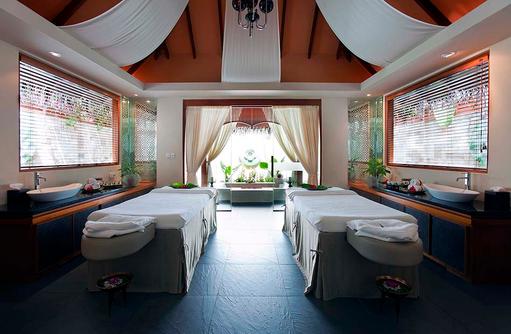 Spa, Behandlungsraum, Paarmassage, Baros Maldives