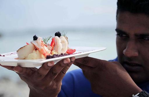 Kulinarische Genüsse, Canareef Resort, Malediven