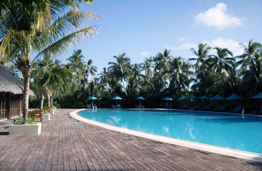 Pool, Palmen, Canareef Resort, Malediven