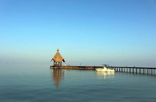 Ankunftssteg, Canareef Resort, Malediven
