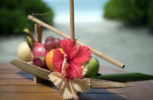 Früchtekorb, Canareef Resort, Malediven