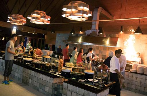 Buffetrestaurant, Canareef Resort, Malediven