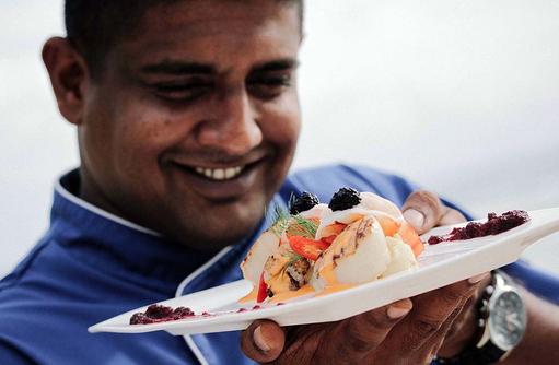 Delikatesse des Meeres, Canareef Resort, Malediven