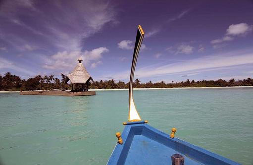 Dhoni Ankunft, Canareef Resort, Malediven