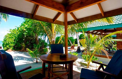 Sunset Beach Villa Terasse, Canareef Resort, Malediven