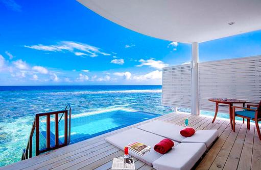 Sunset Ocean Pool Villa, Infinity Pool, Centara Grand Island Resort & Spa, Malediven
