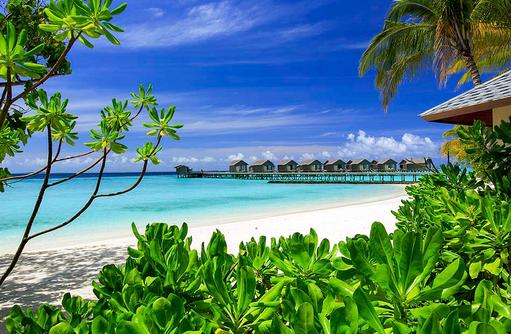 Blick auf das Meer, Centara Ras Fushi Resort & Spa, Maldives