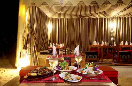 Al Khaimah Restaurant, Dinner for Two, Centara Ras Fushi Resort & Spa, Maldives