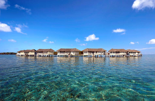 Over Water Suite, Blick vom Meer, Cinnamon Dhonveli Maldives