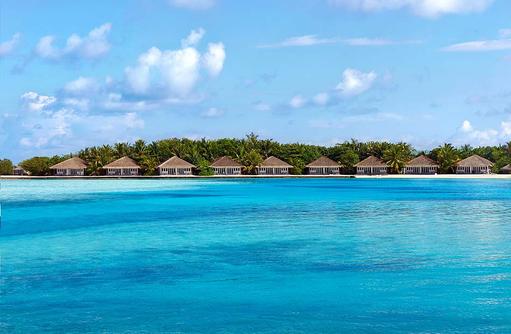 Beach Bungalows, Ansicht vom Meer, Cinnamon Dhonveli Maldives