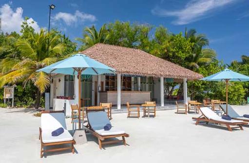 Liegen am Strand, Cinnamon Dhonveli Maldives