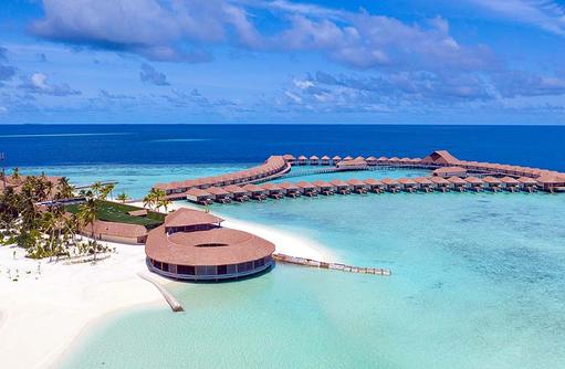 Luftaufnahme, Water Bungalows | Cinnamon Velifushi Maldives