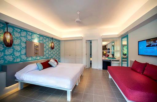 Club Zimmer, modern, Schlafzimmer, Club Med Kani, Maldives
