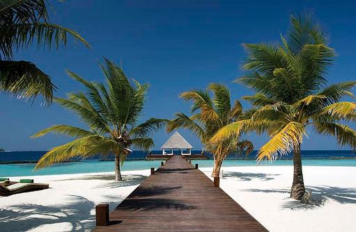 Herzlich Willkommen, Arrival Jetty, Coco Bodu Hithi, Maledives