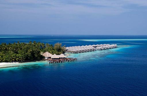 Blick auf das Aqua Restaurant, Coco Bodu Hithi, Maledives