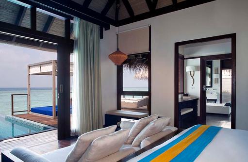 Schlafen in der Coco Residence, Coco Bodu Hithi, Maledives