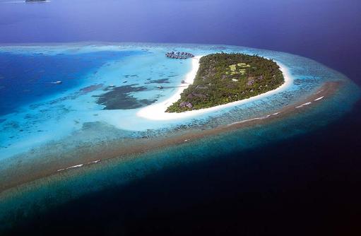Vogelperspektive Insel, Coco Palm Dhuni Kolhu, Malediven