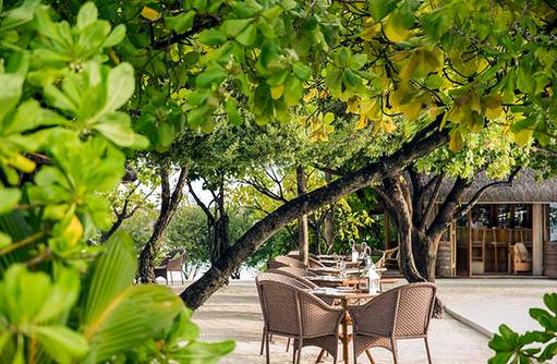 Ufaa Restaurant, Terrasse, Cocoa Island by Como, Malediven
