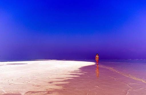 Spaziergang auf der Sandbank, Cocoon Maldives