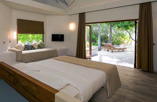 Blick nach außen auf die Beach Suite, Cocoon Maldives