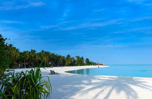 Blick auf den Strand, Cocoon Maldives