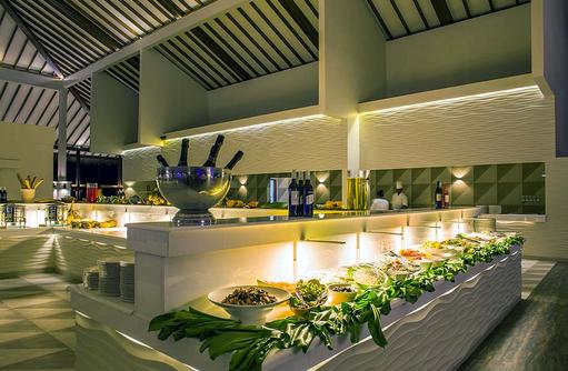 Buffet im Hauptrestaurant, Cocoon Maldives