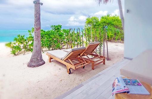 Strandbereich der Beach Villa, Cocoon Maldives
