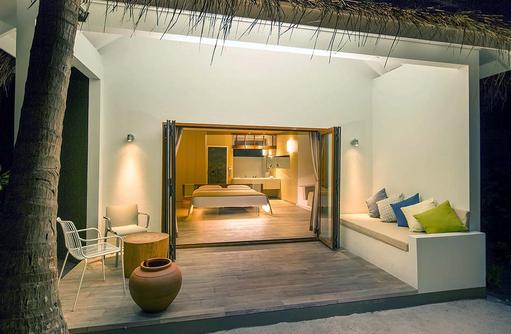 Blick in die Beach Suite, Cocoon Maldives