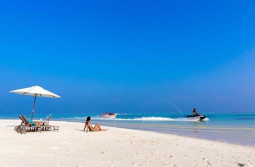 Tag auf der Sandbank, Cocoon Maldives