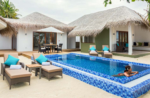 Außenbereich der Cocoon Suite, Cocoon Maldives