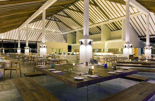 Einrichtung des Ocotpus Restaurants, Cocoon Maldives