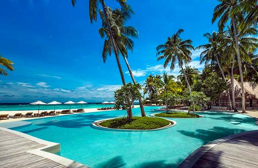 Pool bei Tageslicht, COMO Maalifushi, Maldives
