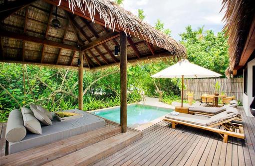 Garden Suite Außenbereich, COMO Maalifushi, Maldives