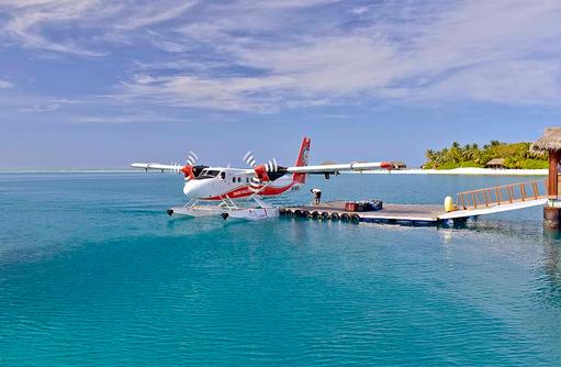 Wasserflugzeug, Conrad Maldives Rangali Island, Maldives