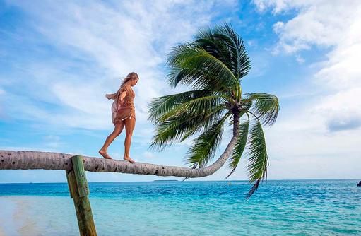 Palme, Model, Balance, Posing, Lifestyle, Conrad Maldives Rangali Island, Maldives