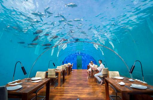 Ithaa Undersea Restaurant, Unterwasser Restaurant, Conrad Maldives Rangali Island, Maldives