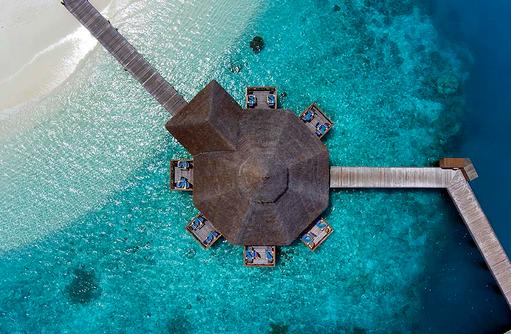 Sunset Grill Restaurant, Conrad Maldives Rangali Island, Maldives