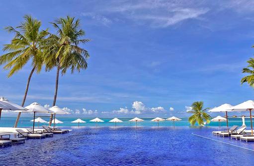 Haupt Pool, Blau in Blau, Conrad Maldives Rangali Island, Maldives